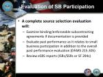 evaluation of sb participation12