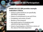 evaluation of sb participation2