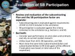evaluation of sb participation4