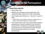 evaluation of sb participation5