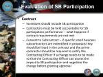 evaluation of sb participation6