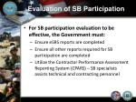 evaluation of sb participation7