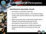 evaluation of sb participation8