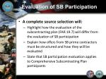 evaluation of sb participation9