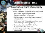 subcontracting plans10