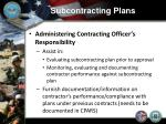 subcontracting plans11
