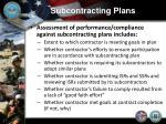 subcontracting plans12