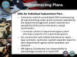 subcontracting plans14