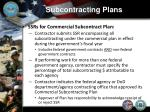 subcontracting plans15