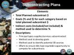 subcontracting plans2
