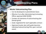 subcontracting plans4