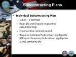 subcontracting plans5