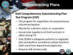 subcontracting plans7