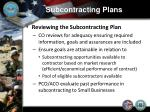 subcontracting plans8