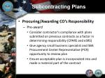 subcontracting plans9