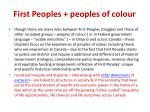 first peoples peoples of colour