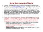 social determinants of equity