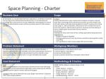 space planning charter