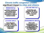 chronic traffic congestion creates significant impact to cities and citizens