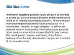 ibm disclaimer