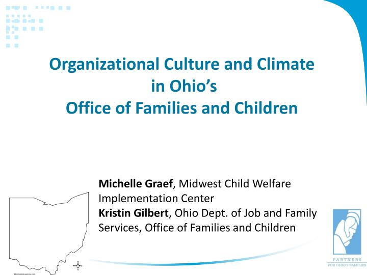 organizational culture and climate in ohio s office of families and children n.