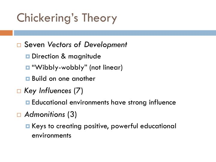 chickering theory