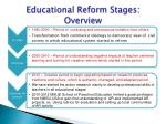 educational reform s tages overview