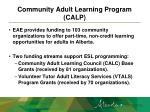 community adult learning program calp