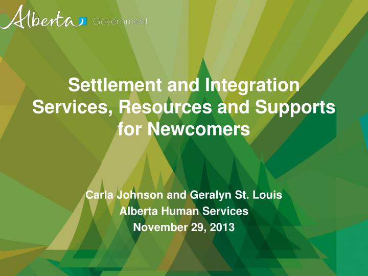 settlement and integration services resources and supports for newcomers n.