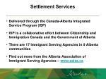 settlement services