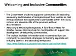 welcoming and inclusive communities