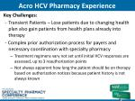 acro hcv pharmacy experience1