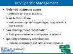 hcv specific management