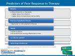 predictors of poor response to therapy