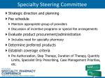 specialty steering committee