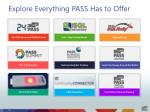 explore everything pass has to offer