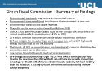 green fiscal commission summary of findings