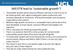 will etr lead to sustainable growth
