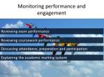 monitoring performance and engagement