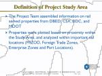 definition of project study area