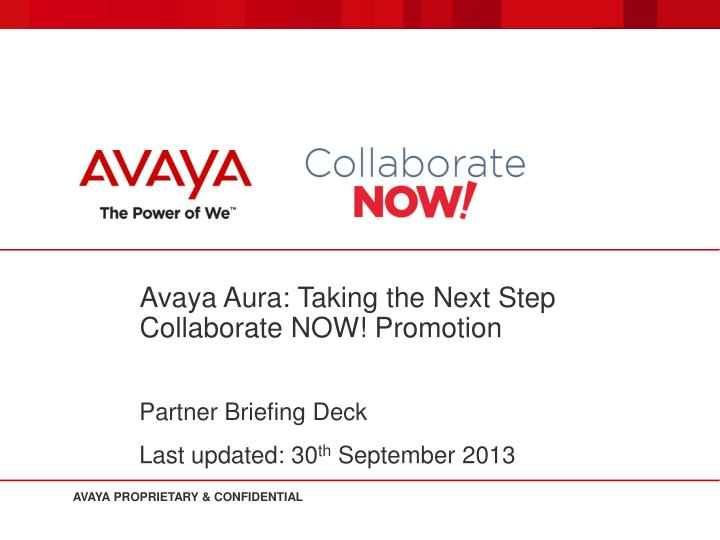 avaya aura taking the next step collaborate now promotion n.