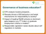 governance of business education1