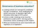 governance of business education2