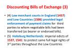 discounting bills of exchange 3