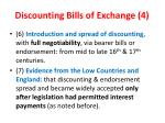 discounting bills of exchange 4