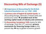 discounting bills of exchange 5
