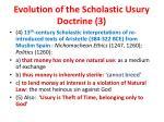 evolution of the scholastic usury doctrine 3