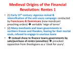 medieval origins of the financial revolution rentes 1