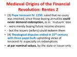 medieval origins of the financial revolution rentes 2