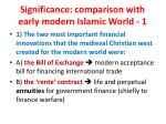 significance comparison with early modern islamic world 1